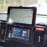 【星光産業 EC-151】タブレットをホルダーで車載【セイワ W826】