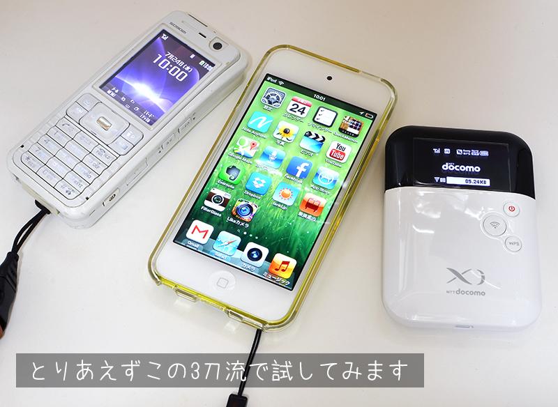 ガラケー + iPod touch + wifiルーターで通信費を節約
