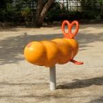 公園でエビフライを発見